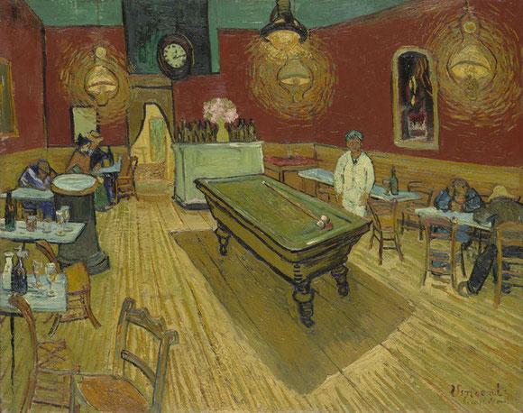 フィンセント・ファン・ゴッホ「夜のカフェ」(1888年)