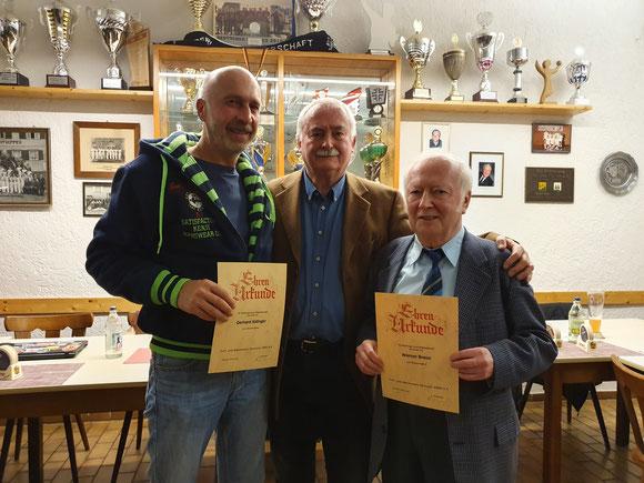 v.l.n.r.: Gerhard Aldinger, Alfred Gerwig und Werner Braun