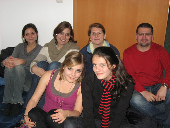 Die Leiterrunde bei der Kinonacht 2010
