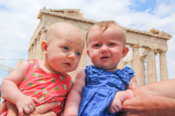 Acropolis Athens Greece With Baby