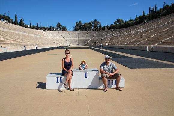 Panathenaic Stadium Athens Greece With Baby