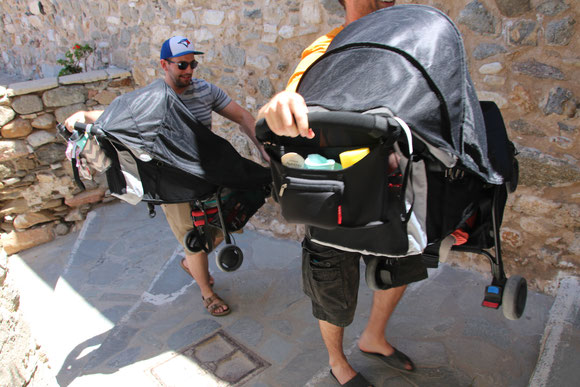 Baby Stroller in Greece With Baby