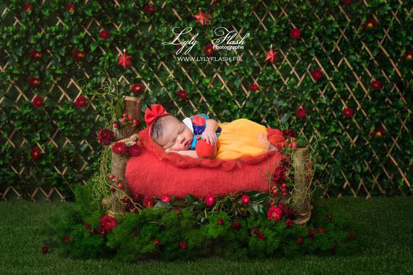 photo créative pour la naissance de bébé