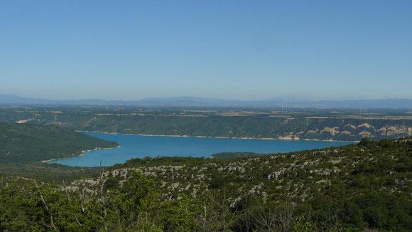 Le lac de sainte Croix vu d'Aiguines