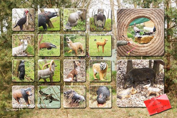 Fotocollage - Ein Teil unserer 3D Tiere