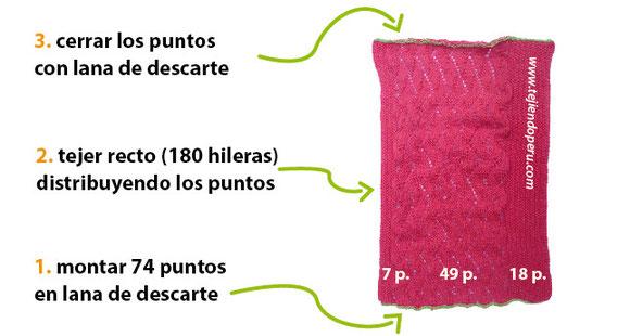 Cómo tejer una capa con capucha para niñas de 5 a 6 años en dos agujas o palitos