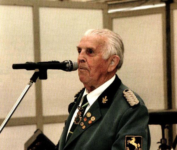 Fredy Hohnhorst, von 1972-1988 1. Vorsitzender / Foto Dr. Drescher