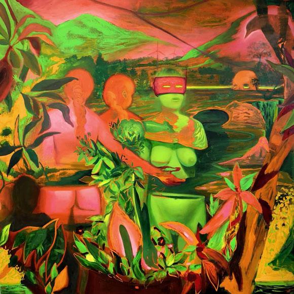 Sans titre / oil on canvas / 130 x 130 cm