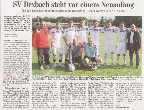 Saarbrücker Zeitung vom 26.07.2011