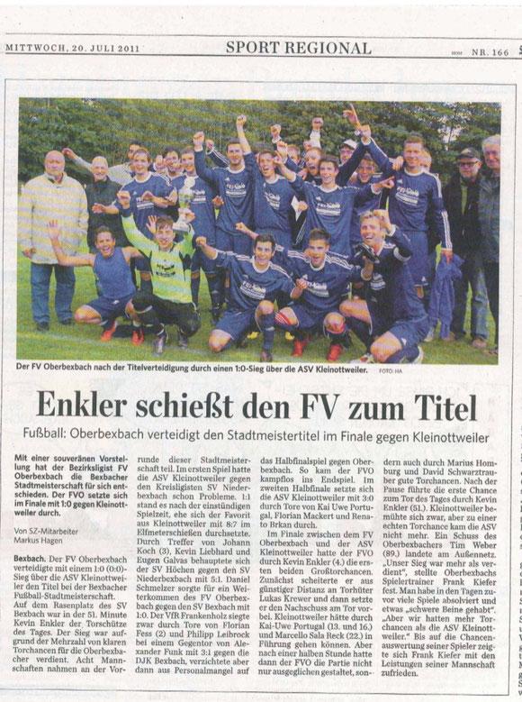 Saarbrücker Zeitung vom 20. Juli 2011