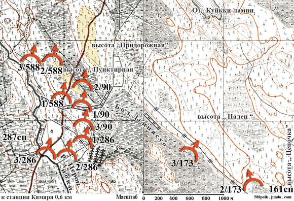 Части 90-й стрелковой дивизии в бою 26.02.40 г. севернее                                                ст. Кямяря .