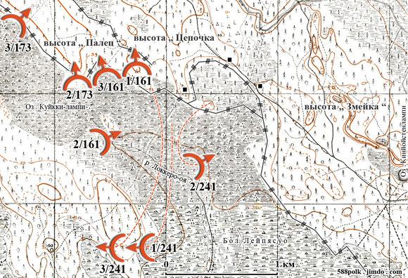 95-я стрелковая дивизия в бою 26.02.40  северо-западнее  ст. Лейпясуо.