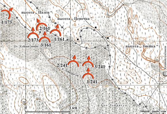 95-я стрелковая дивизия в бою 25.02.40  северо-западнее  ст. Лейпясуо.