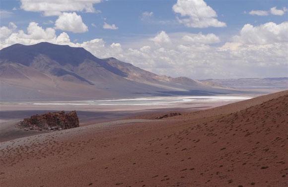 der offene Teil des Salars Aguas calientes (=heißes Wasser) (wir hatten leider keine Zeit zum Baden)