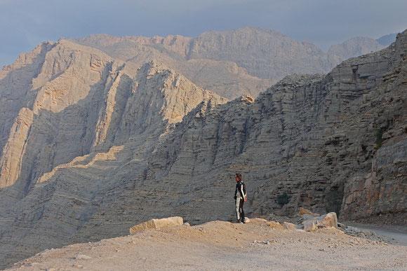 Auf der Passhöhe zur Khor Al Najd