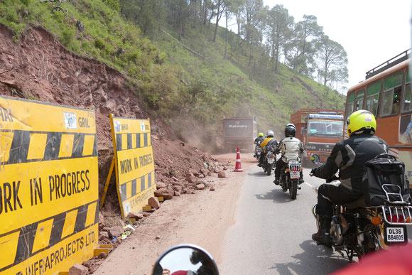Die erste Etappe nach Shimla wird gleich zur Herausforderung.