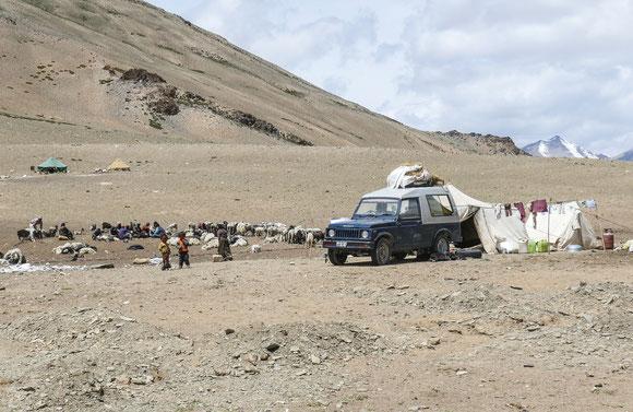 Nomadenlager auf der Hochebene