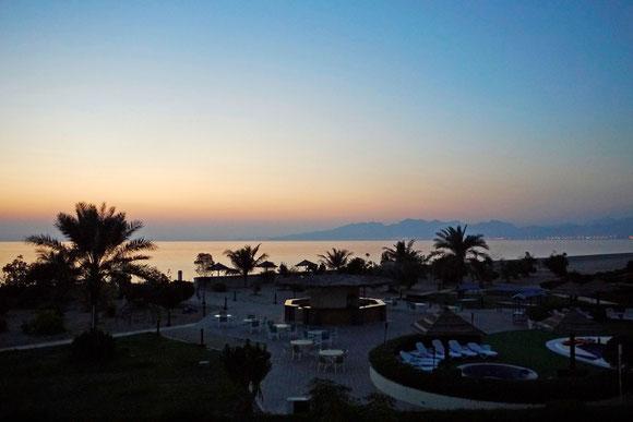 Morgenstimmung, von unserem Hotelfenster aus.