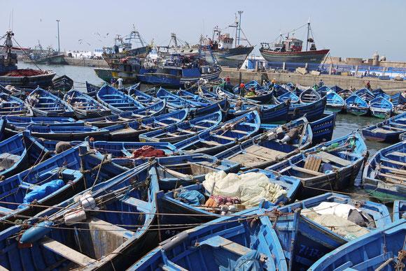 Blau ist die Farbe der Fischerboote