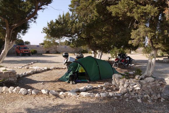 Auf dem Campingplatz in Sid Kaouki