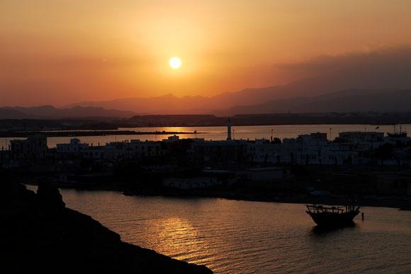 und endlich mal ein schöner Sonnenuntergang