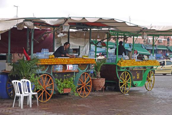Orangensaft-Verkäufer auf dem Djamâa el-Fna