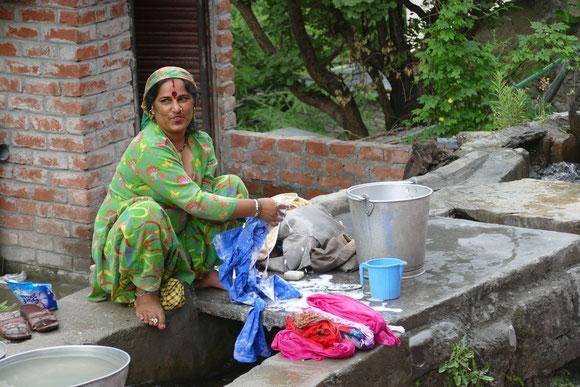 Waschplatz im Dorf
