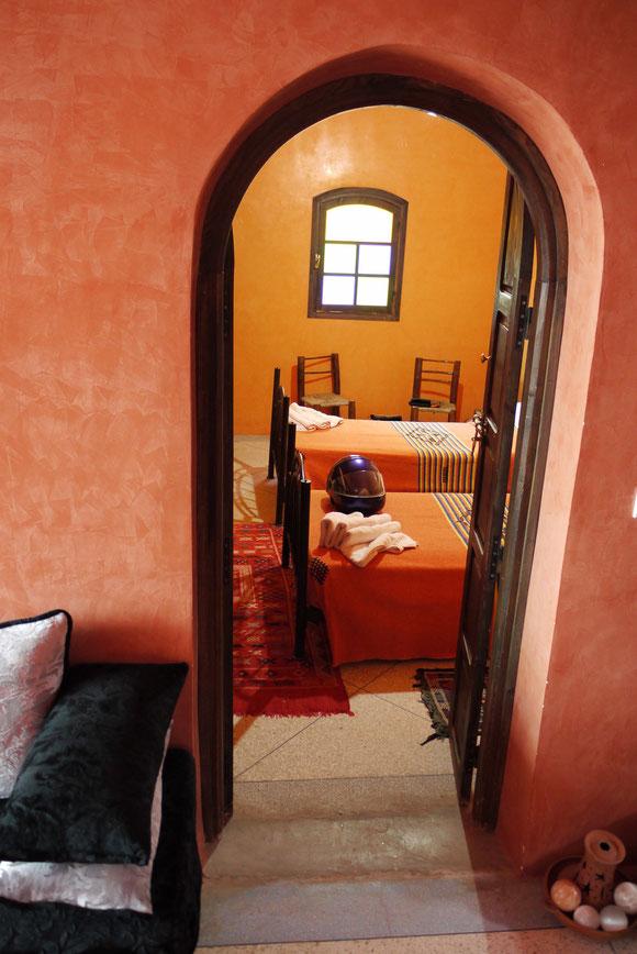 Unser Zimmer in der Villa de l'Atlas