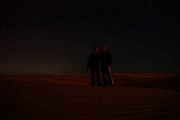 auf der gropßen Düne: den Sternen ein bißchen näher ... .