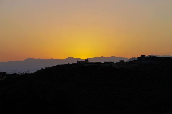einer der wenigen schönen Sonnenuntergänge...(ca. 17:30 h)