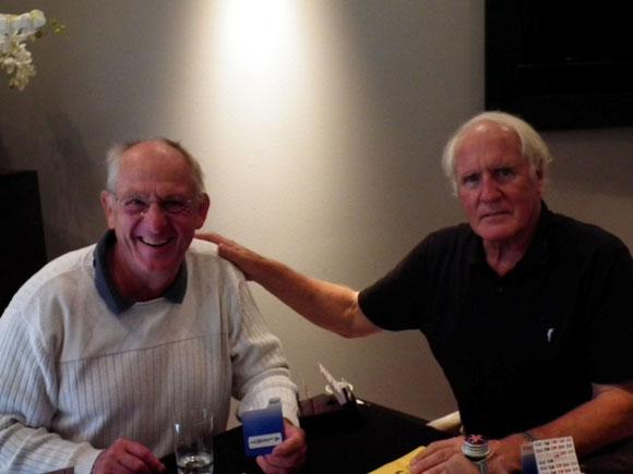 Wieland und Rolf bei guter Laune