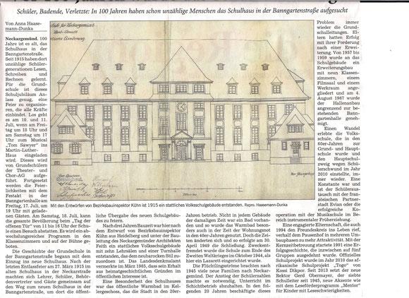 RNZ-Artikel vom 9.7.2015 - von A. Haasemann-Dunka