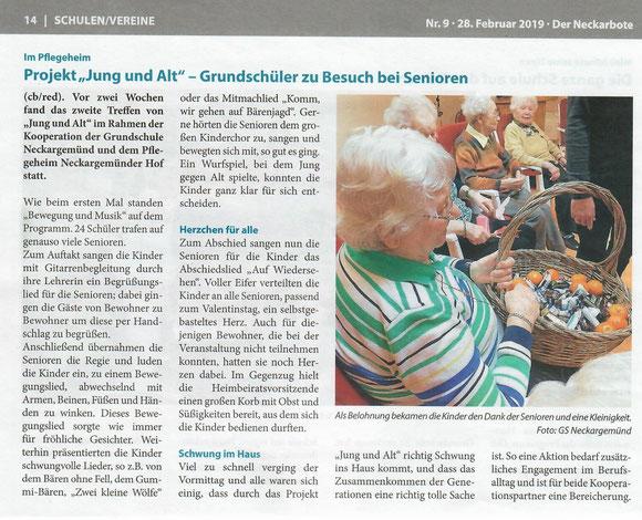 entnommen aus Neckarboten Nr. 9 - 28.02.2019