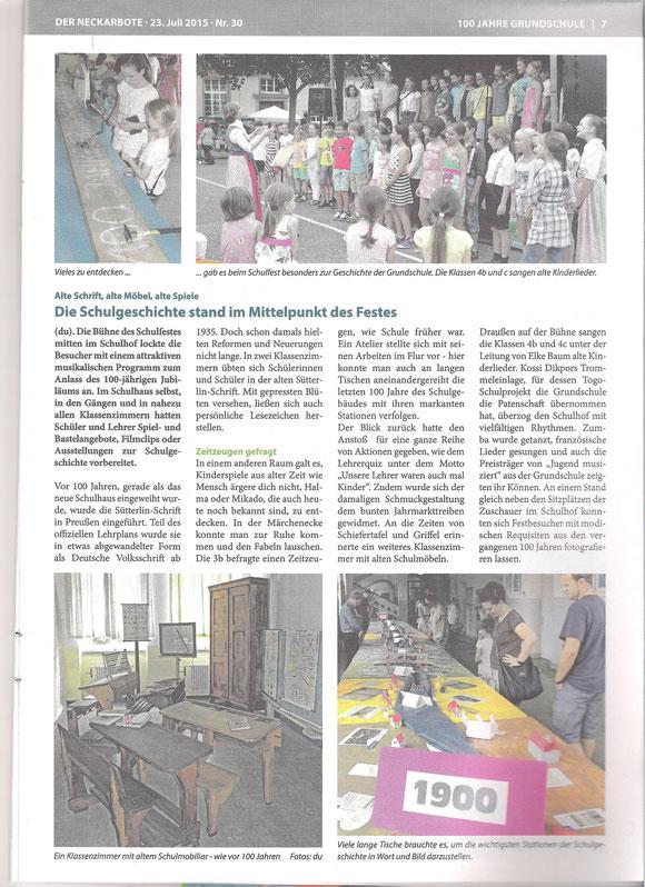 Neckarboten vom 23.07.15 - Text/Bilder von A. Haasemann-Dunka