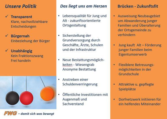 FWG Brücken/Pfalz e.V. - Programm zur Kommunalwahl 2019