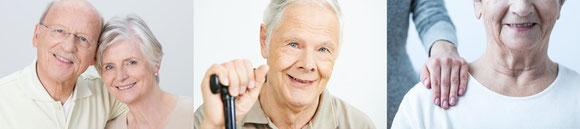 Strahlendes Lächeln durch sichere, sitzende und gesunde Zähne