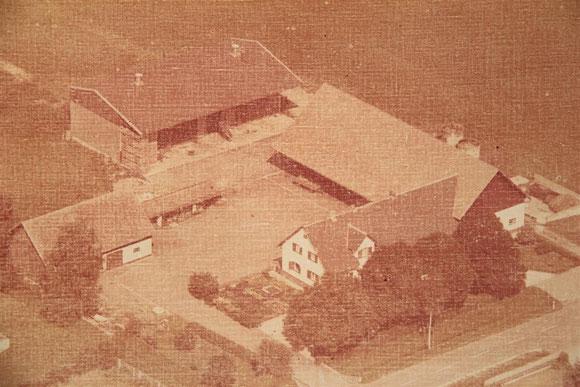 Betriebsgelände bei der Gründung 1975