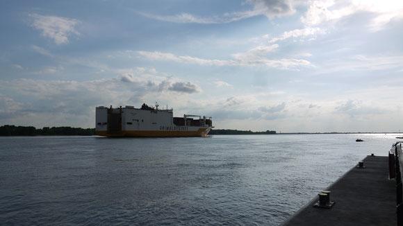 Auf der Elbe Richtung Südamerika..