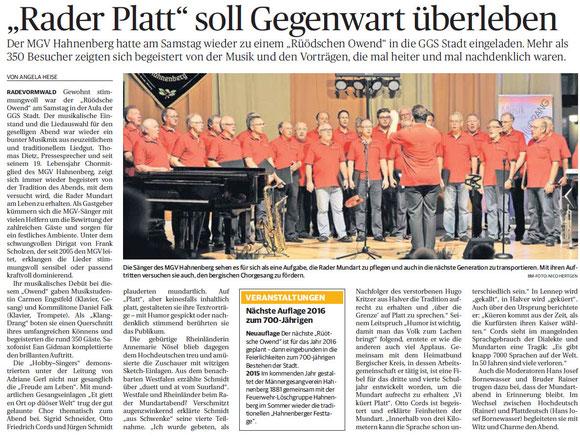 Bergische Morgenpost 20.10.2014