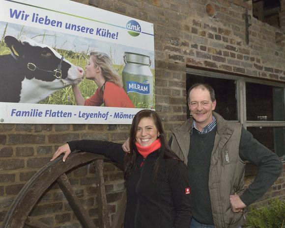Betriebsleiter Bernd Flatten u. Tochter Cornelia (Foto: Andreas Dittmer)