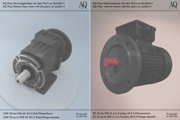 Stirnradgetriebe mit E Motor 400 V B35