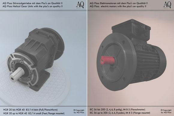 Stirnradgetriebe mit E Motor 400 V B34kl