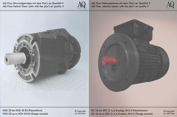 Stirnradgetriebe mit E Motor 400 V B5