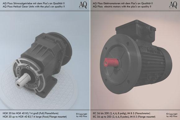 Stirnradgetriebe mit E Motor 400 V B34gr