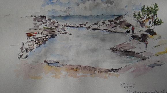 Une plage tranquille à Väddö