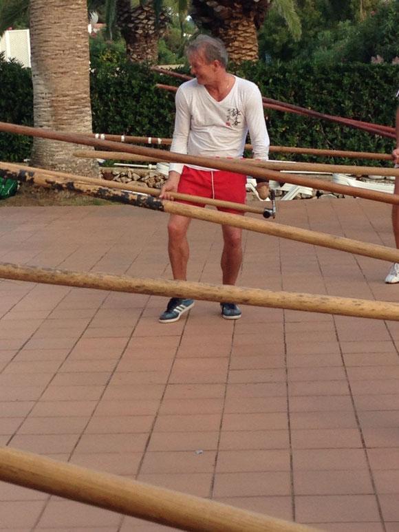 Langstocktraining mit Philipp Bayer auf Menorca, 2013