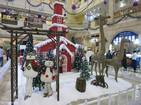 Weihnachtliche Stimmung in der Mall