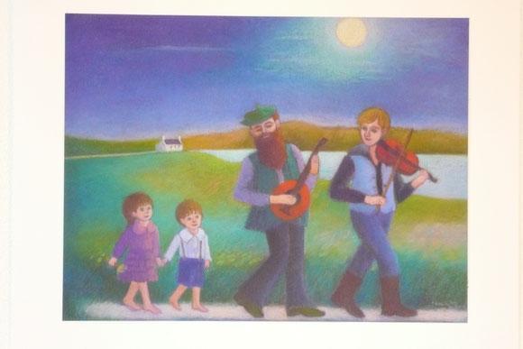 Music in the moonlight 42.5cmx52.5cm(sold)