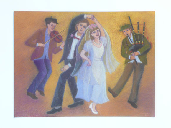 The weddingparty of the neighbour 42.5cmx52.5cm (sold)