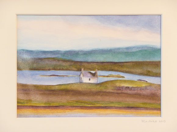A little ruin (Isle of Lewis, sold) 26.5cmx32.5cm